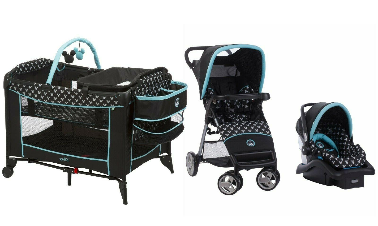 baby stroller with car seat playard crib