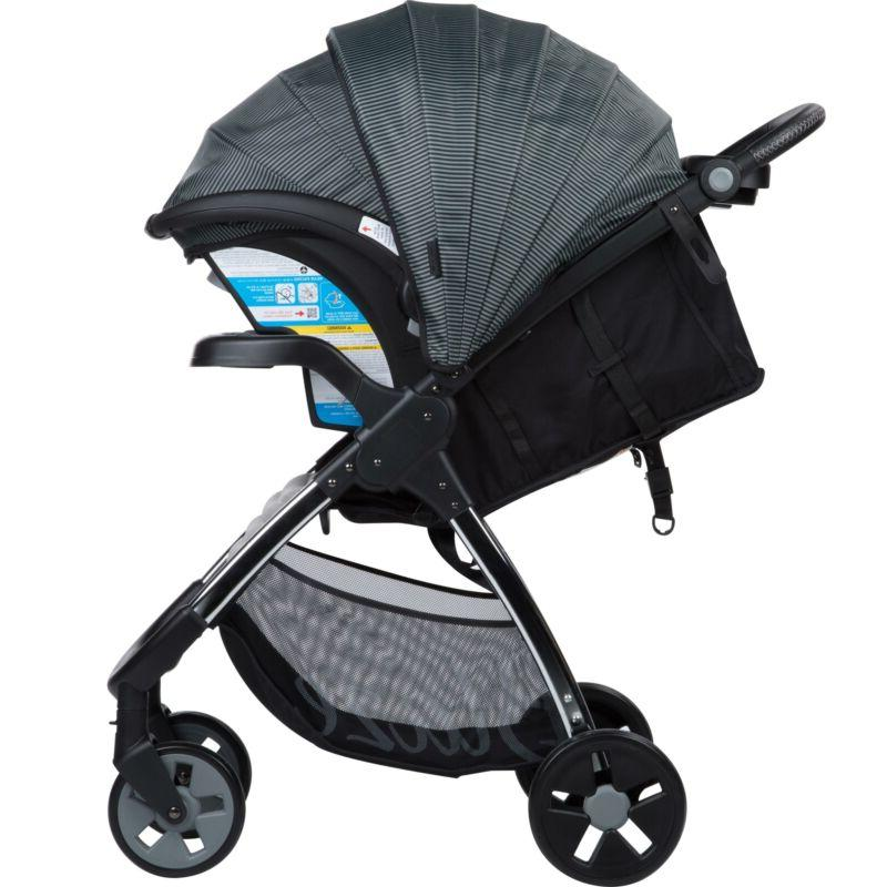 Baby Travel System Infant Stroller Car Seat Gray Pinstripe NEW