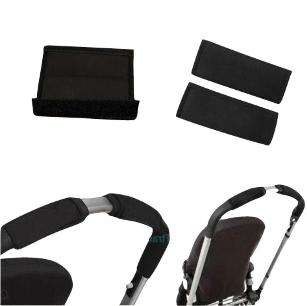 black soft fabric handle cover chassis to
