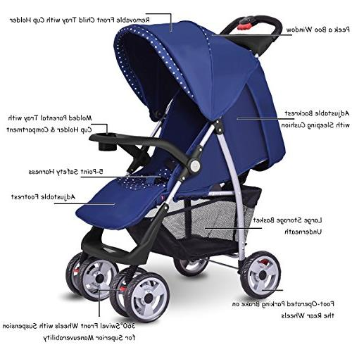 Costzon Stroller, Infant with Safety Multi-Position Reclining Seat, Parent Suspension
