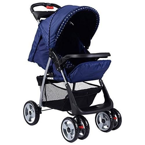 Costzon Baby Foldable Infant Pushchair Safety Seat, Parent and Child Suspension