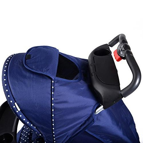 Costzon Infant with Safety Harness, Seat, Parent Tray, Storage Suspension