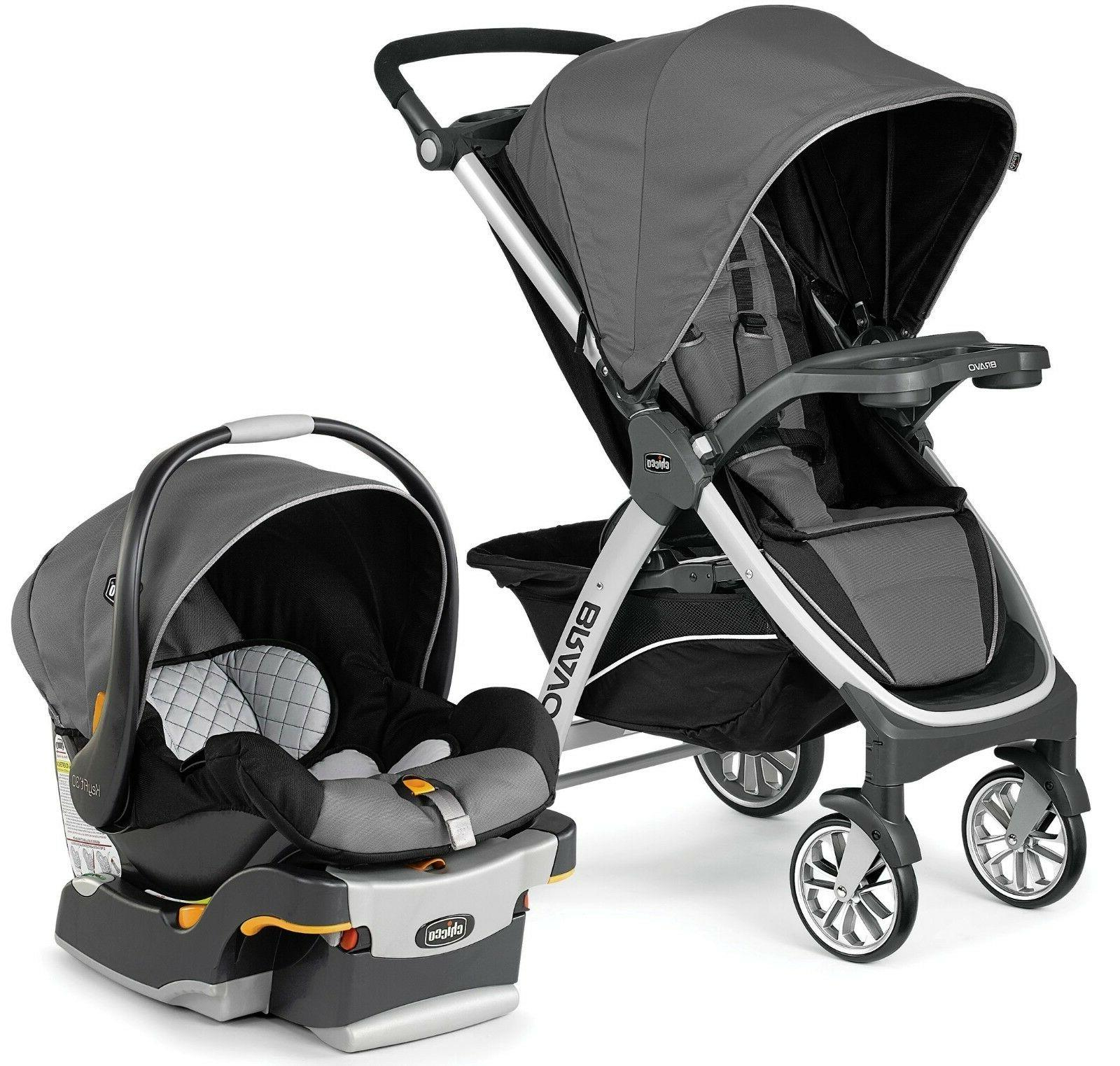 Chicco Bravo Trio 3-in-1 Baby Travel System Stroller w/ KeyF
