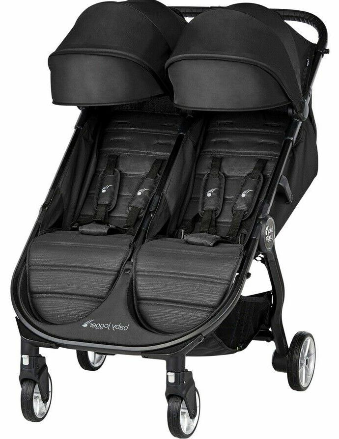 Baby City 2 Twin Compact Fold Travel Stroller Jet