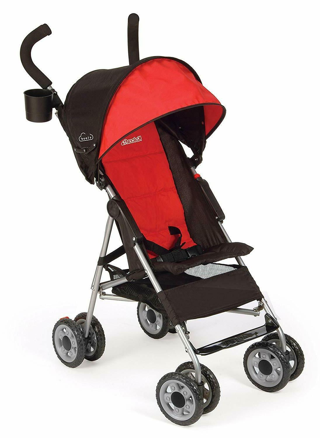 Kolcraft Stroller with Large Canopy, Red