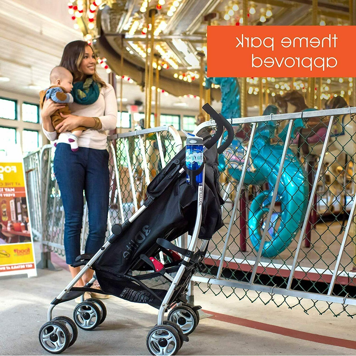 Convenience Black Lightweight Baby Stroller with Frame