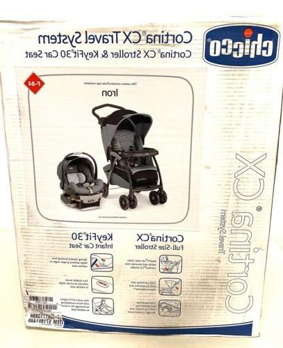 Chicco Cortina CX System Stroller, Iron- New