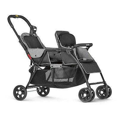 Besrey Double Baby Connect Strollers Gray