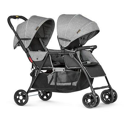 double stroller for baby and toddler tandem