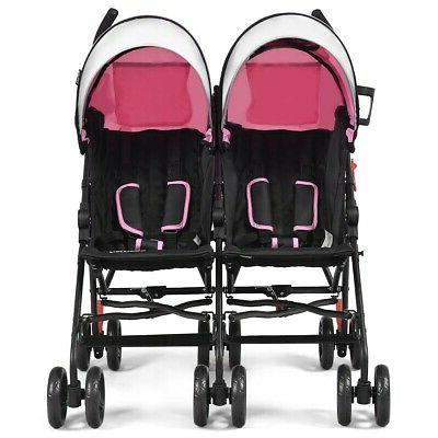 Double For And Toddler Twin Baby Stroller Lightweight 18