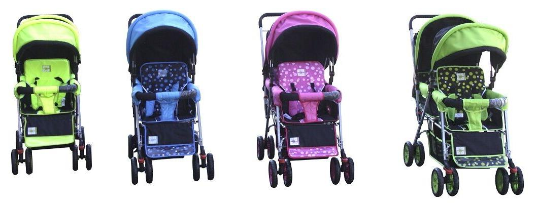DOUBLE Strollers BEBELOVE 2 Multiple Child