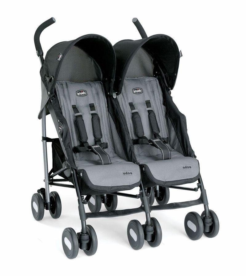 echo twin double stroller coal