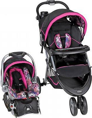Baby Trend Stroller Safety Harness Travel System Floral Garden
