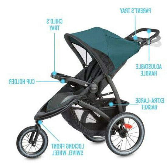 Graco FastAction Travel System Stroller w/ SnugRide Car Seat Seaton