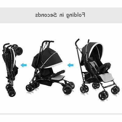 Foldable Baby Buggy Kids Jogger Travel Pushchair