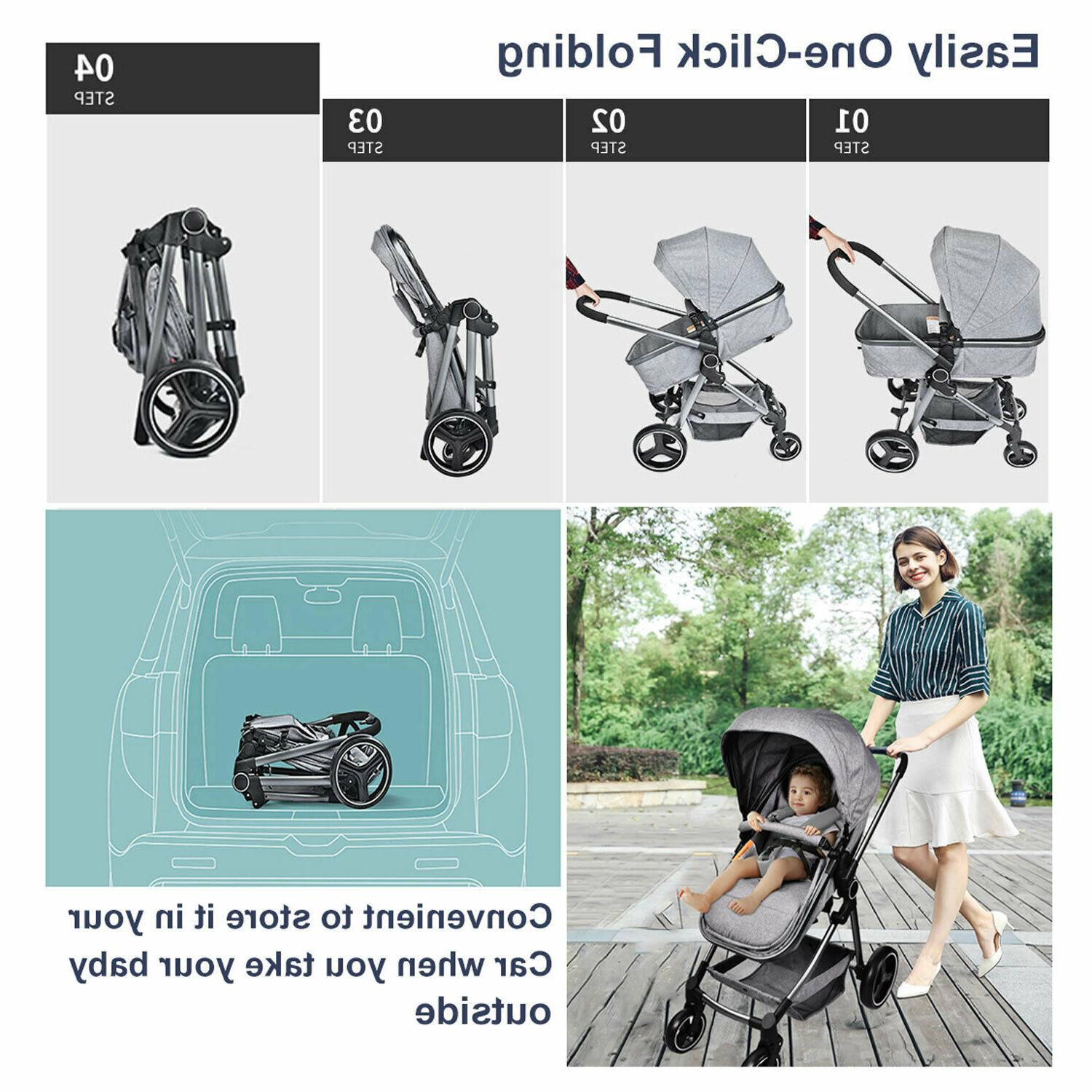 Foldable Stroller Convertible Carriage