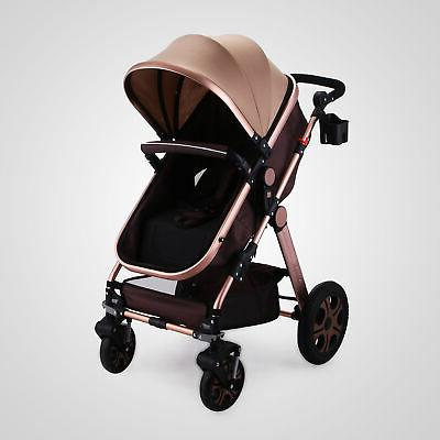 Foldable Baby Stroller View Car