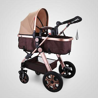 3 in Foldable Baby Stroller View Car