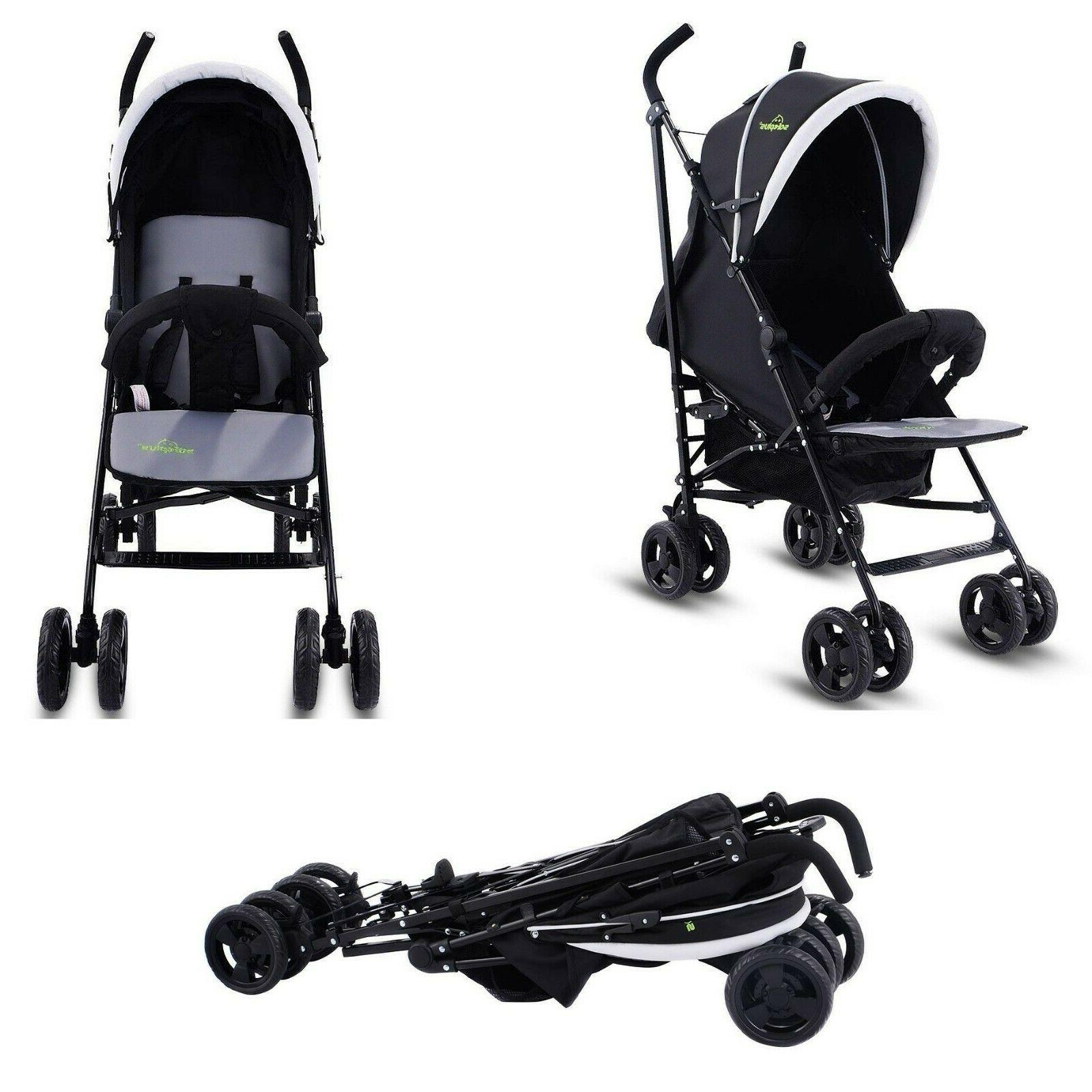 Costway Foldable Baby Stroller Buggy Kids Jogger Travel Infa