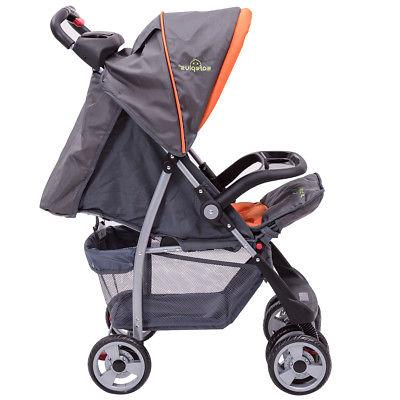 Foldable Kids Stroller Newborn Pushchair Gray