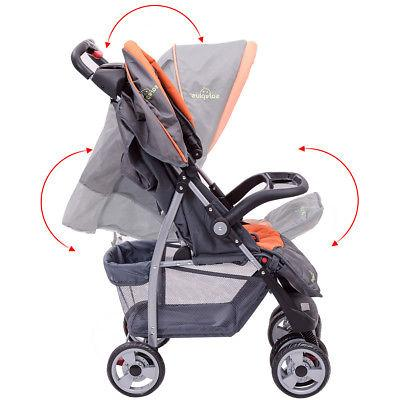 Foldable Baby Kids Stroller Infant Pushchair Gray