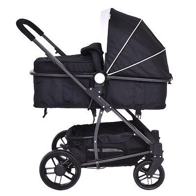 3 Baby Kids Infant Pushchair Black