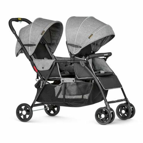 foldable twin pushchair baby tandem pram double