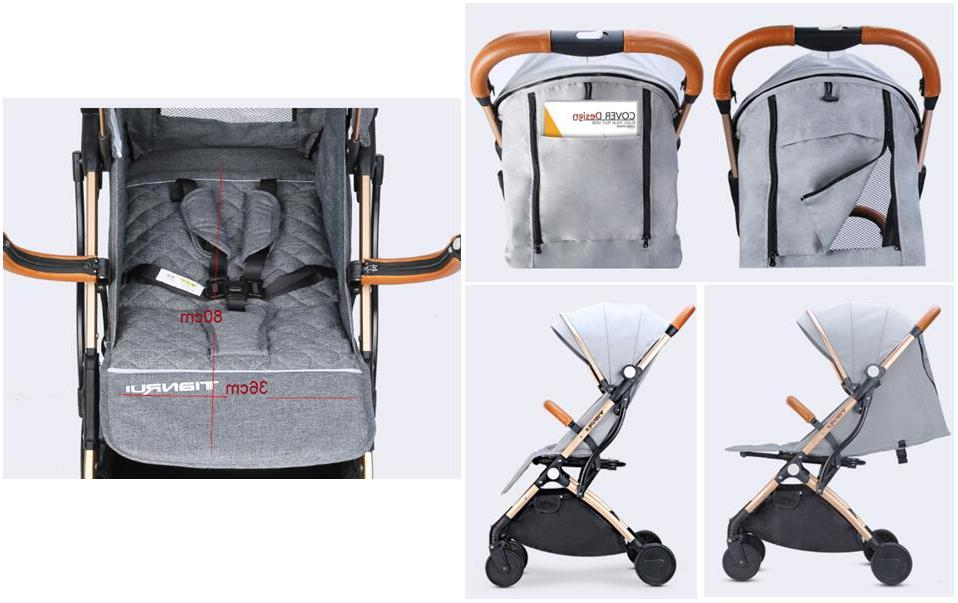 <font><b>Baby</b></font> <font><b>Stroller</b></font> Plane <font><b>Lightweight</b></font> Portable Pushchair FREE GIFTS,3USD COUPONS