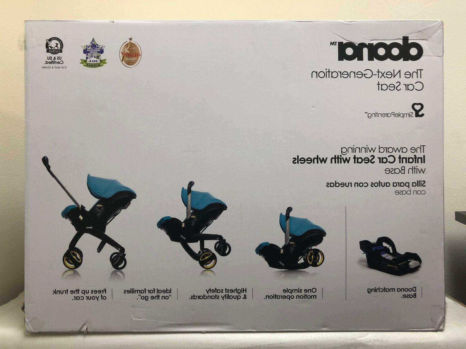 Doona Seat Travel Stroller Navy with Latch Base NEW