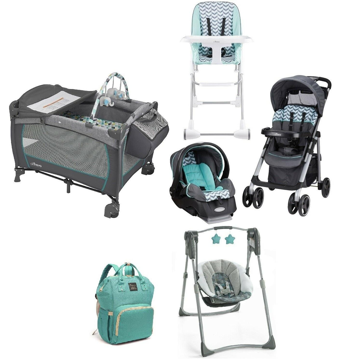 infant combo playard swing chair baby stroller