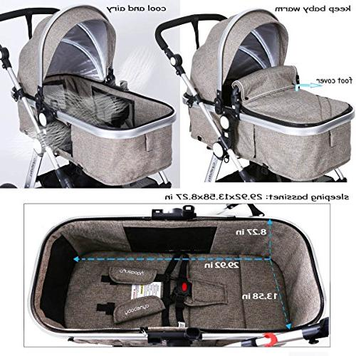 Infant Toddler Carriage - Cynebaby Pram Strollers Tray