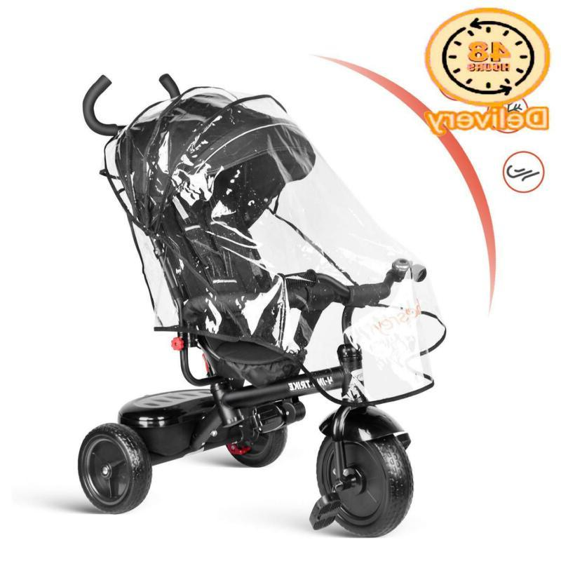 Besrey Kids Tricycle In Baby With Safety