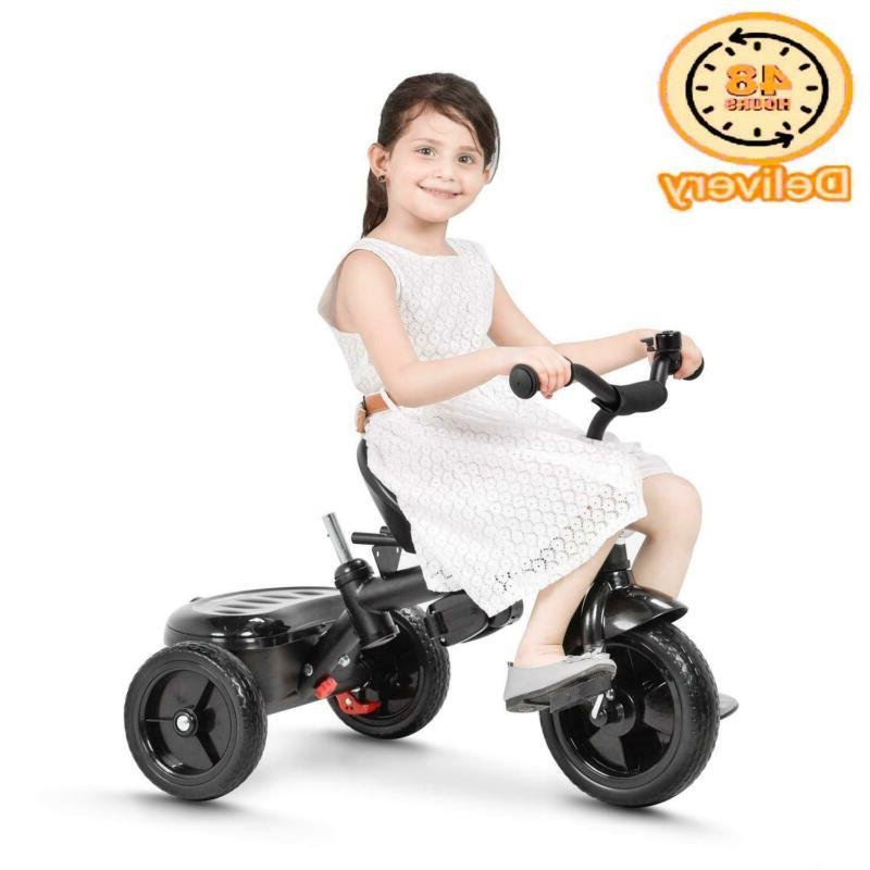 Besrey Kids Tricycle In 1 Baby Trike With Steering Handle Safety Belt