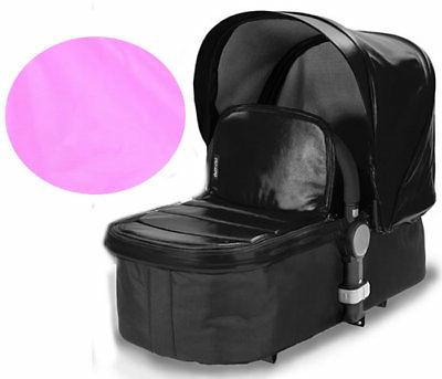letour leather canopy with bassinet apron pink