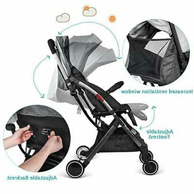 besrey Folding Travel Pushchair with