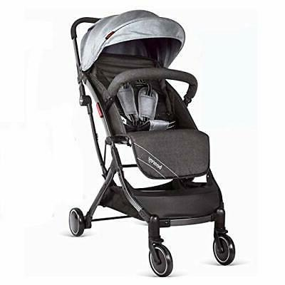 lightweight stroller folding travel pushchair with pull