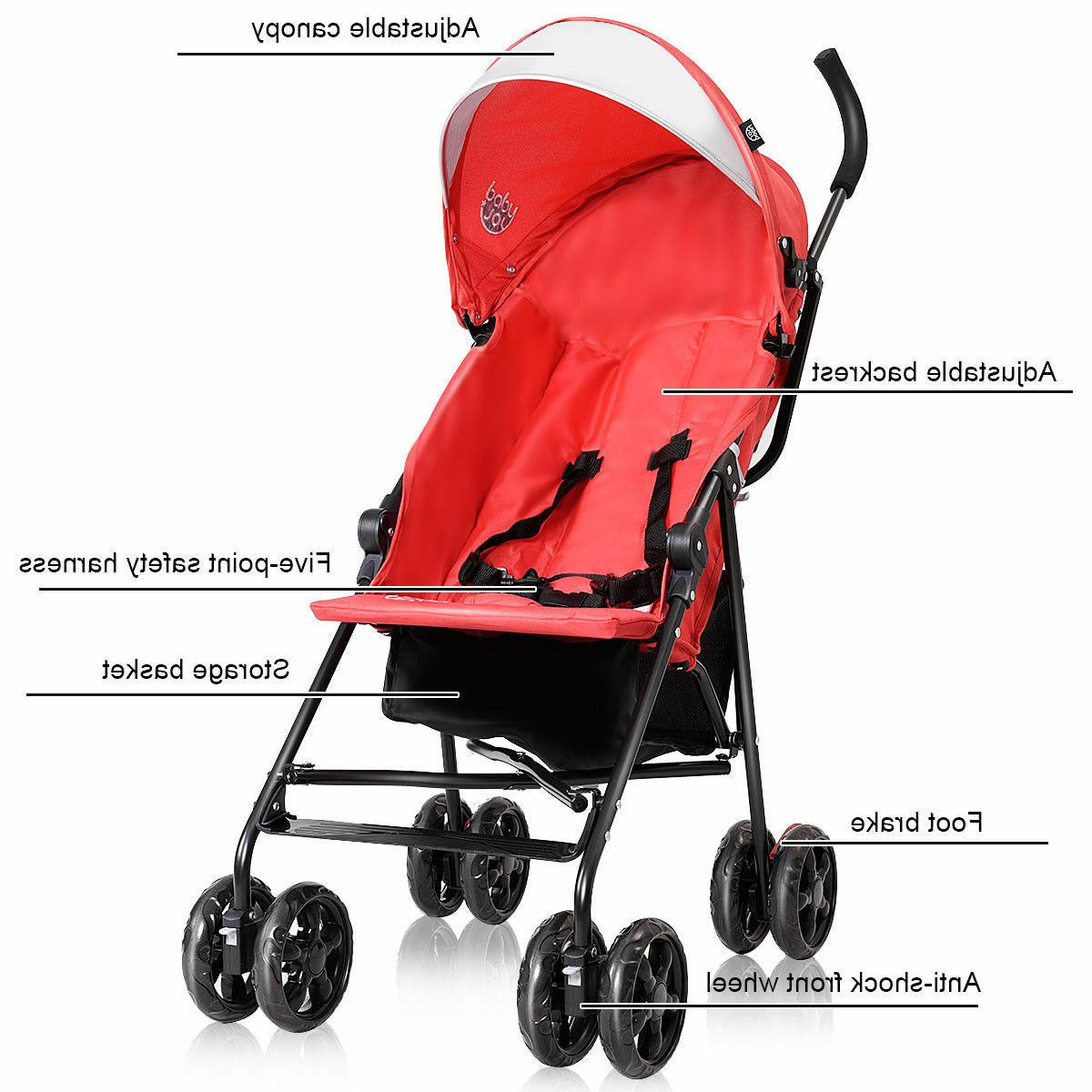 Lightweight Umbrella Stroller Toddler Sun Storage
