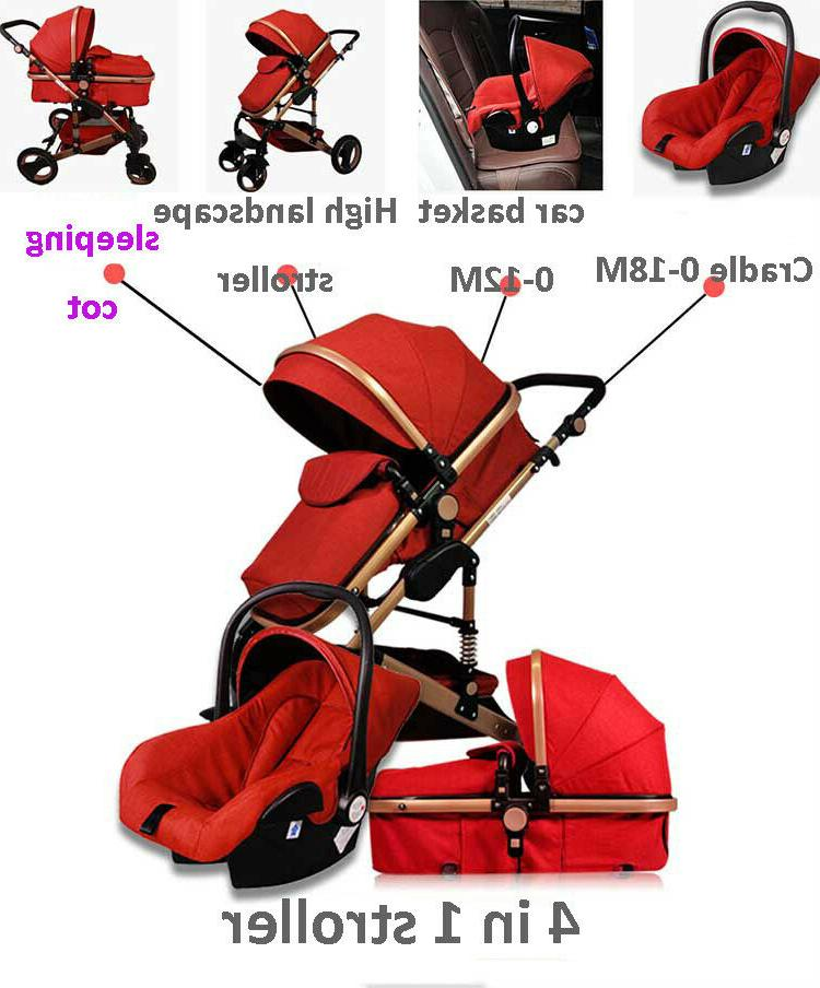 Luxury Baby Stroller High View Pram Foldable Car Seat