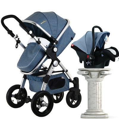 3 in 1 Luxury Baby Stroller with Car Seat For Newborn High V