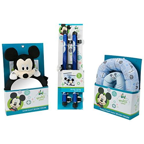 mickey mouse baby travel essentials bundle blue