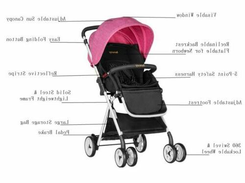Besrey Jogger Stroller Solid Frame Push Chair