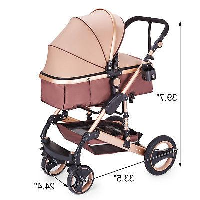 Newborn Baby Luxury Buggy Foldable Pushchair Infant Carriage