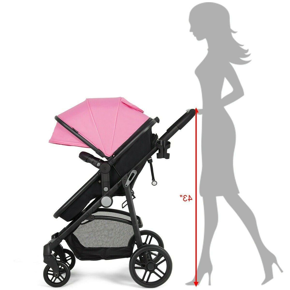 Newborn Foldable Strollers 2 in Pink New