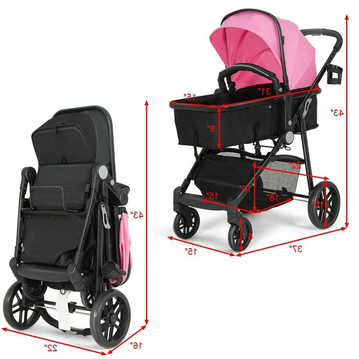 Newborn Foldable Strollers System 2 in 1 New