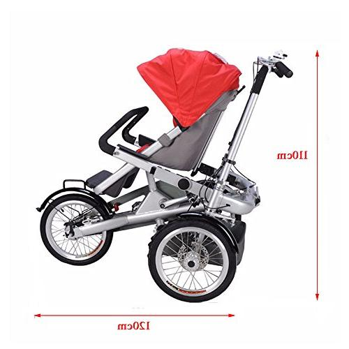 One/Two Baby Kids' Tricycle Stroller Bicycle 3 to 5