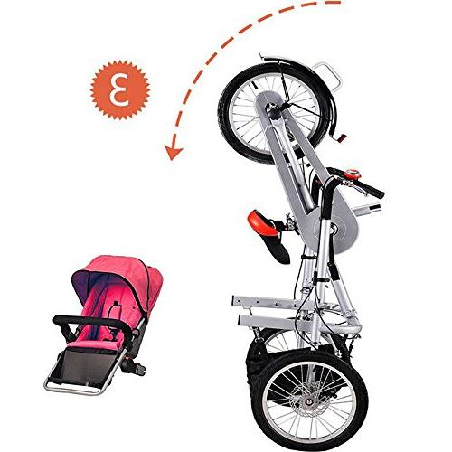 One/Two Seat Folding Baby Child Tricycle Mom Bicycle Pushchair to 5