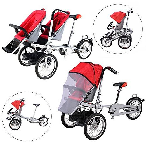 One/Two Folding Baby Bicycle Pushchair 5 Years
