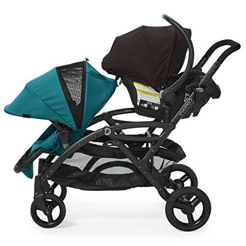 Contours Options Elite Double Toddler Stroller, Multiple and Aruba Teal