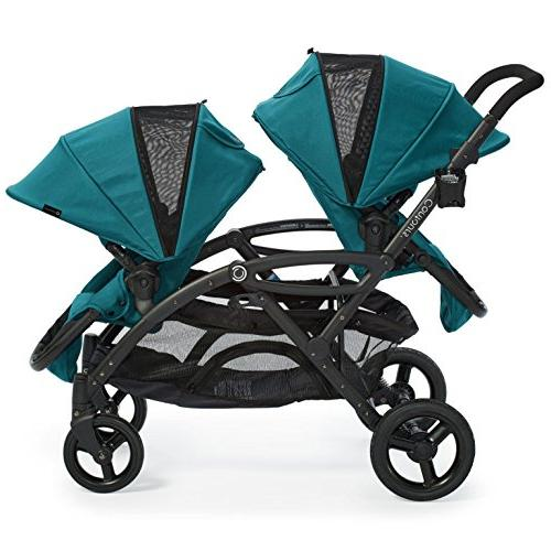 Contours Options Elite Tandem Double Stroller, Configurations and Lightweight Aruba Teal