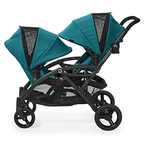 Contours Double Stroller, Multiple and Lightweight Frame, Teal